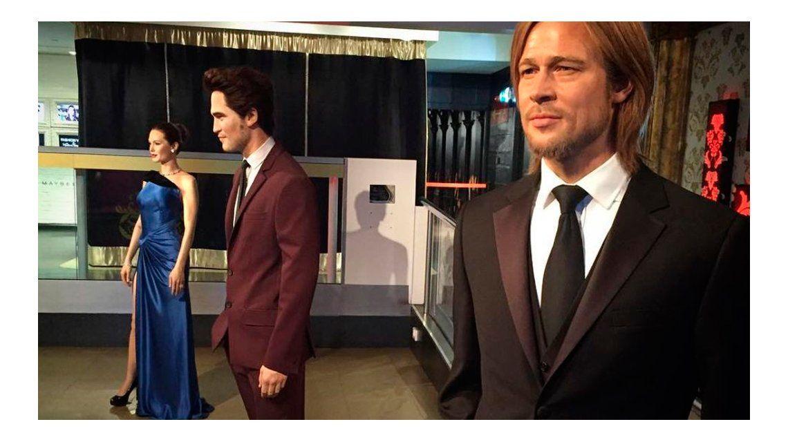 Angelina Jolie y Brad Pitt, separados ¡hasta en el museo de cera!