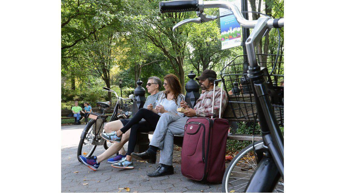 Bicleteada de Macri y Awada por el Central Park