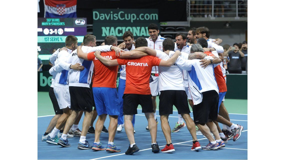 Croacia le ganó a Francia y ahora espera a la Argentina en la final de la Copa Davis