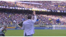 Príncipe en todos lados: conmovedora ovación a Diego Milito en Italia