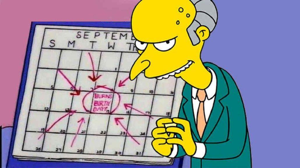 Furor en las redes sociales por el cumpleaños del Señor Burns
