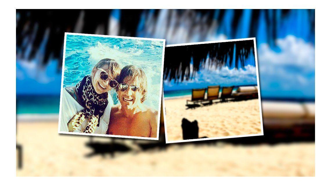 Las vacaciones de Amalia Granata Leo Squarzon en el Caribe: Estoy disfrutando de esta hermosa familia