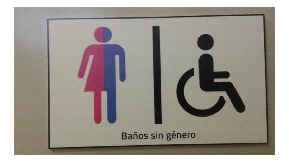 Baños sin género en una facultad de Rosario