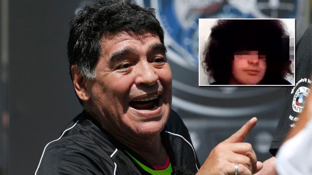 Hablo el supuesto hijo de Maradona en vivo: Me veo parecido, por los rulos y la cara