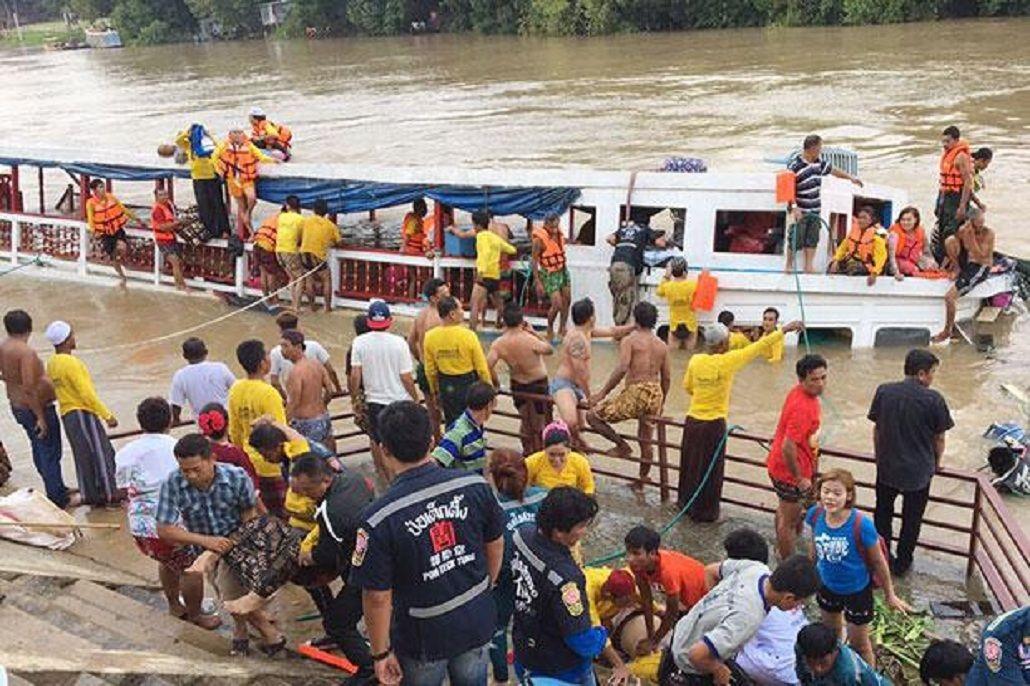 Siete muertos al naufragar un ferry en un río de Tailandia