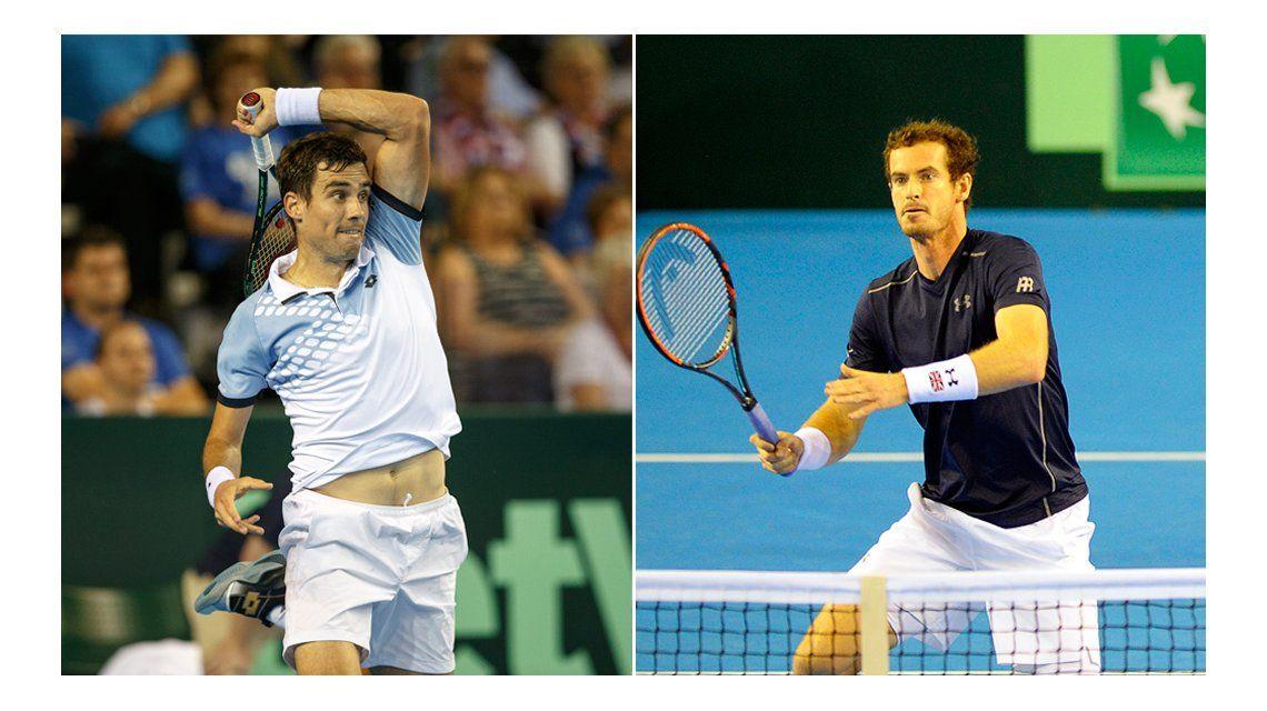 Copa Davis:  Murray le ganó a Pella y la serie se definirá en el quinto partido