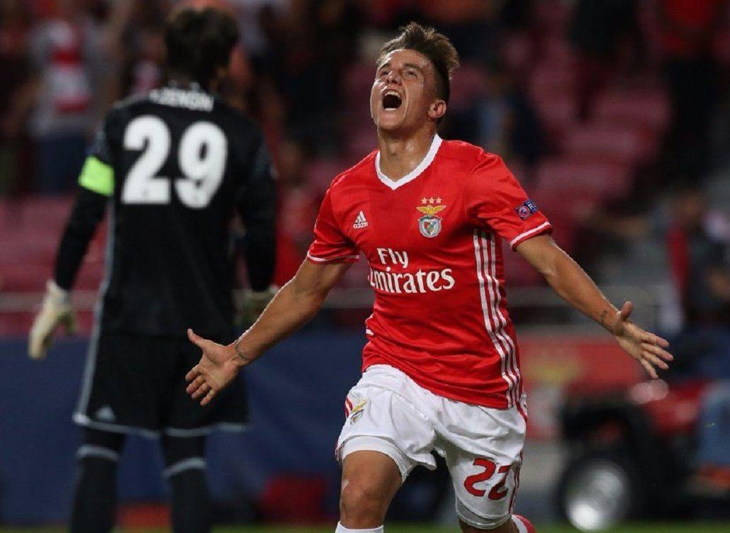 Franco Cervi debutó en la Champions League con un gol para el Benfica