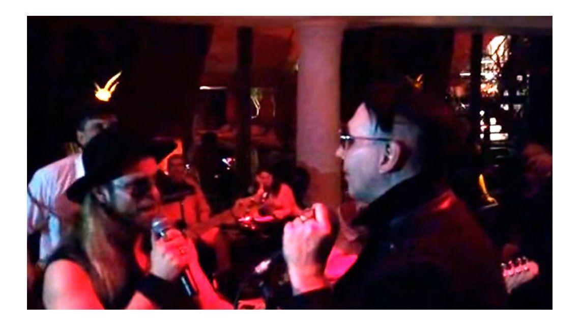 VIDEO: Marilyn Manson cantó con Tripa de Mambrú después de su show en Buenos Aires