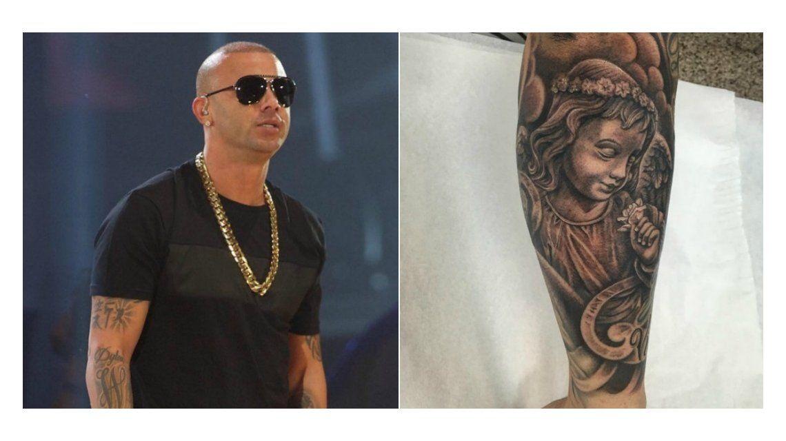 Mirá el tatuaje de Wisin en homenaje a su hija que padece una enfermedad genética