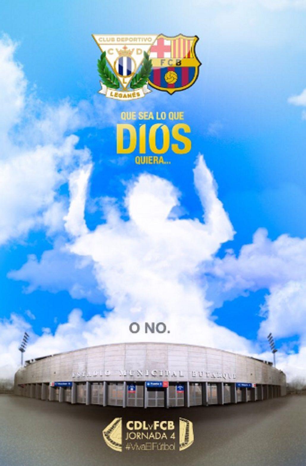 El original cartel que armó un rival del Barcelona para intentar parar a Messi
