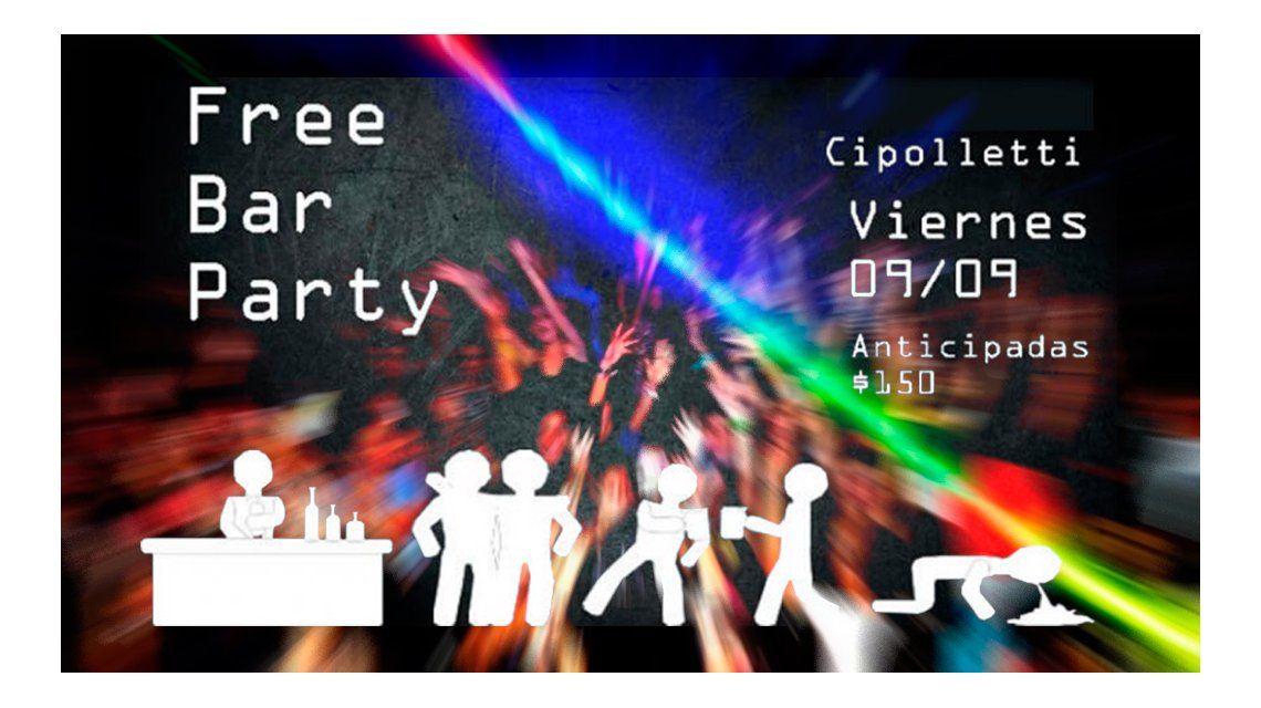 Polémica en Cipoletti: una fiesta para adolescentes invita a tomar hasta vomitar
