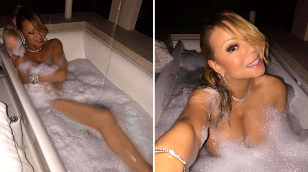Mariah Carey, desnuda e insinuante en Instagram