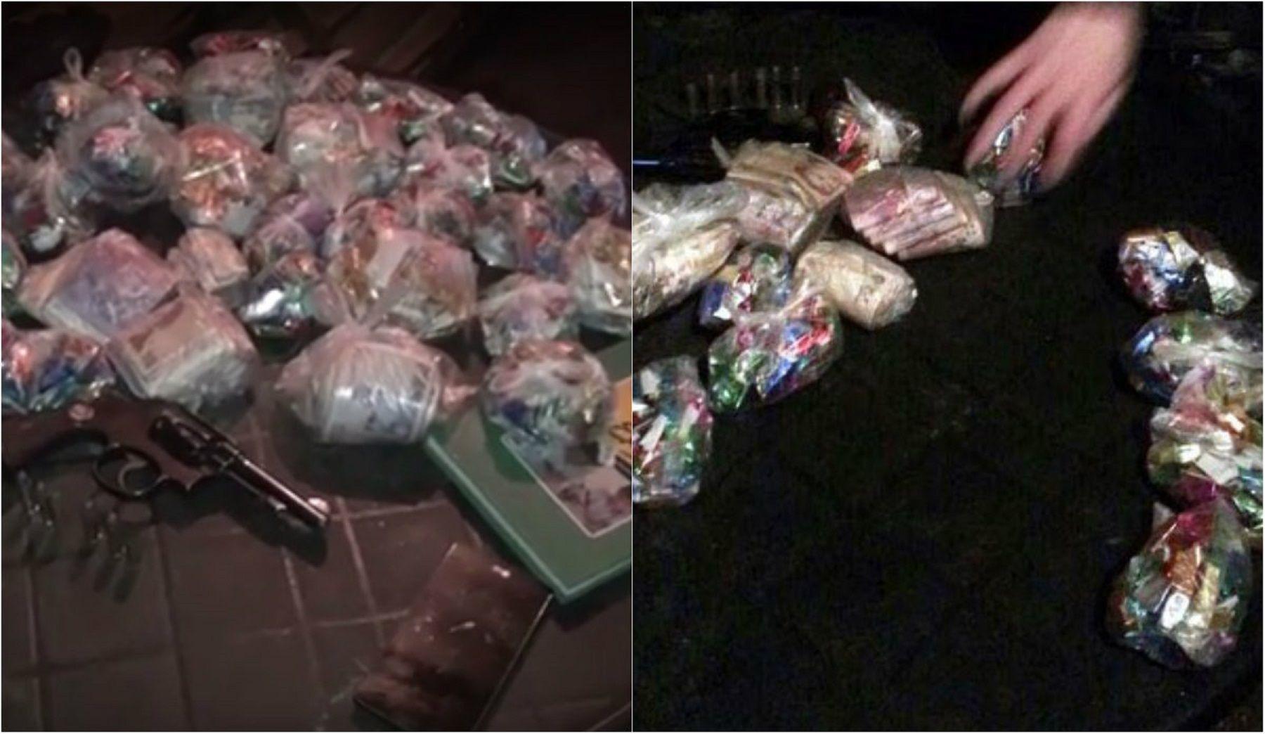VIDEO: Así secuestraron 4.000 dosis de pasta base en La Matanza
