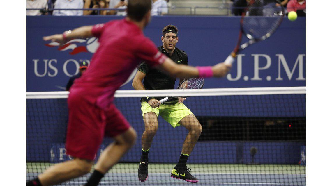 Del Potro perdió ante Wawrinka y quedó afuera del US Open
