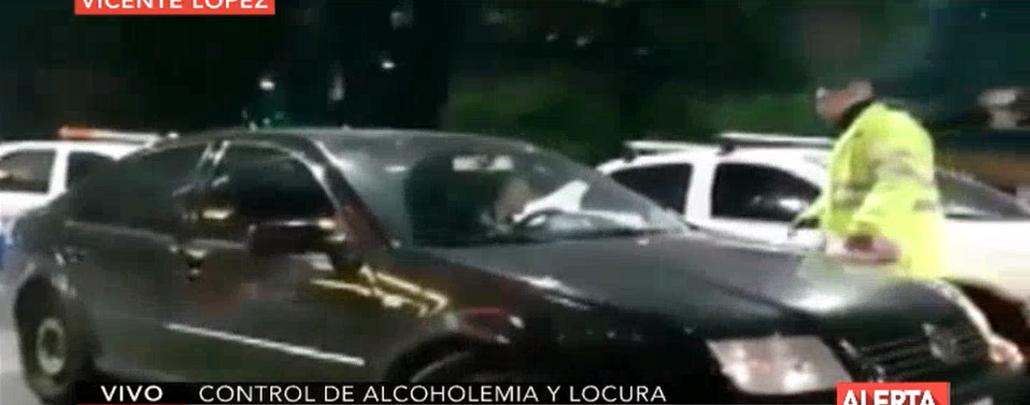 Atropelló a dos policías para escapar de un control de alcoholemia en Vicente López