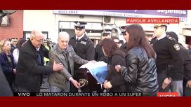 El conmovedor adiós al policía héroe asesinado a tiros en Longchamps