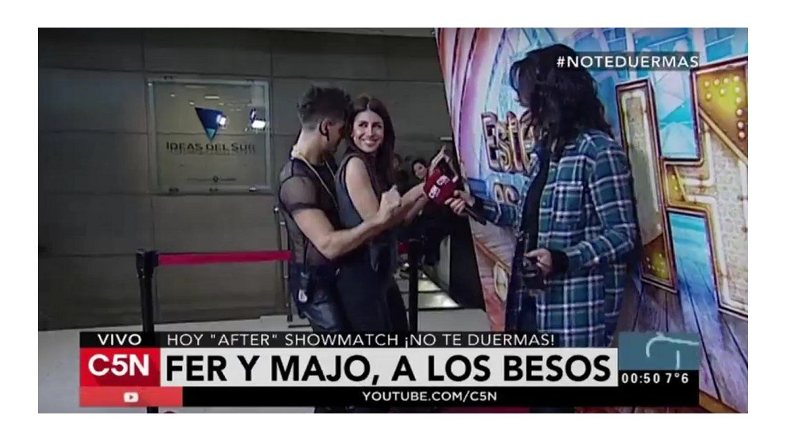 VIDEO: después de besarse en Showmatch, Majo Martino y Fer Vázquez perrearon en C5N