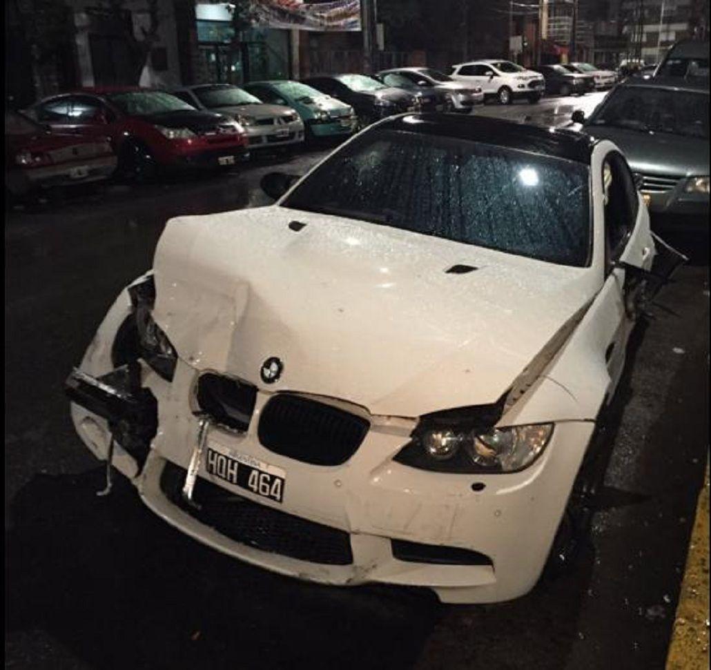 El jugador de Boca Ricardo Centurión chocó a tres autos a la salida de un boliche de Lanús