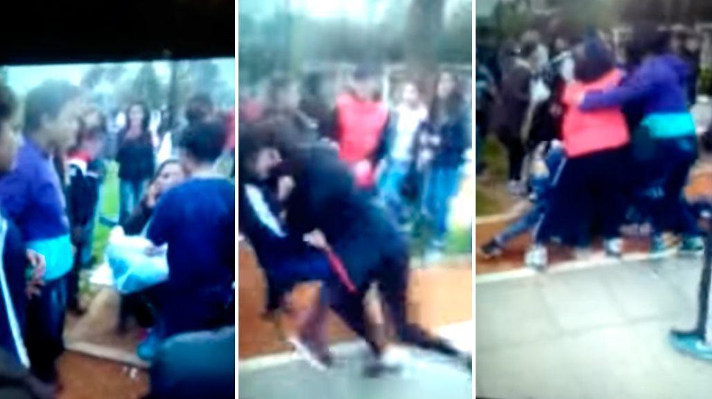 Batalla campal en Pilar: trompadas, patadas, robos y destrozos en un parque