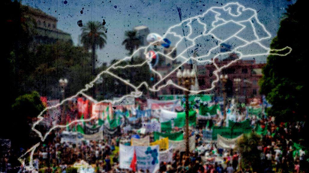 MAPA: Cronograma de columnas y marchas hacia Plaza de Mayo