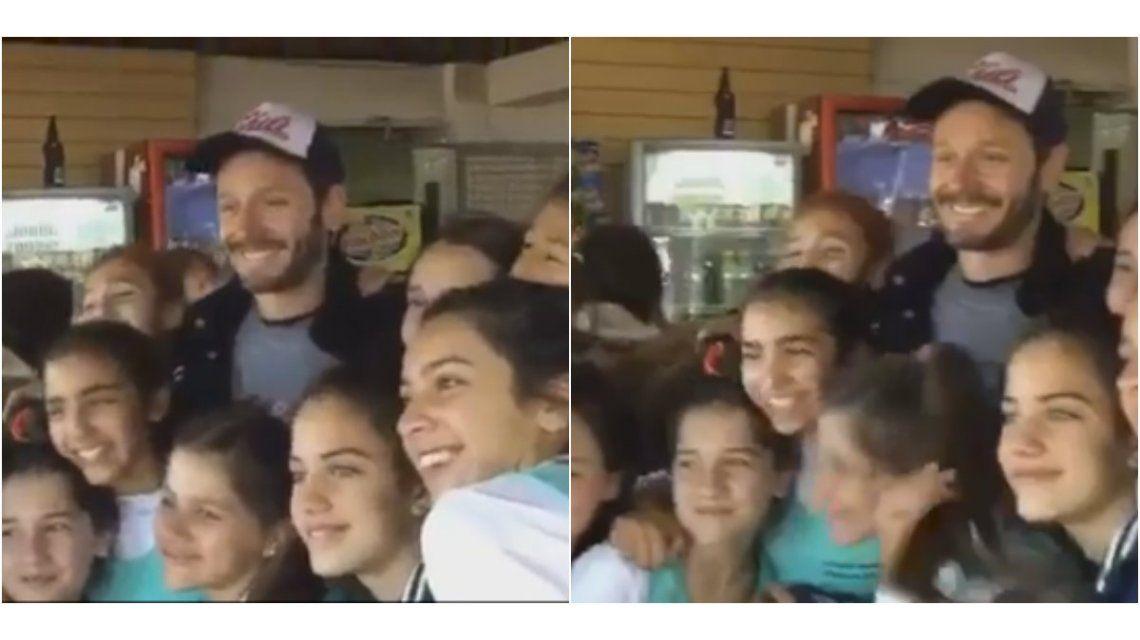 VIDEO: Benjamín Vicuña, día de paseo y deportes con sus hijos en Buenos Aires