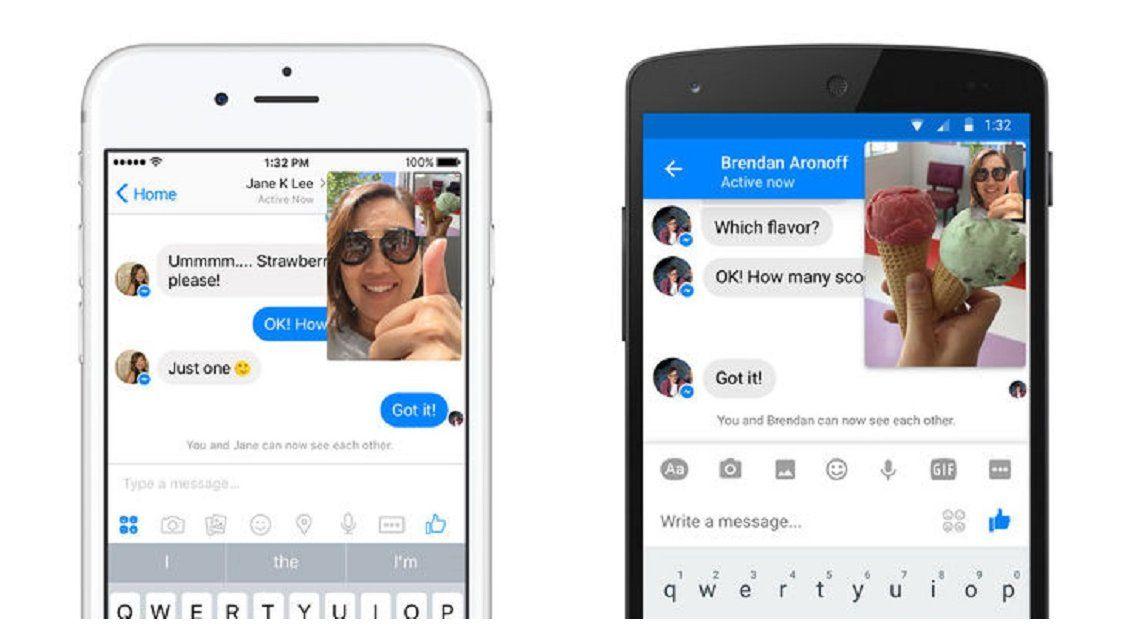 Facebook Messenger incorpora el video en vivo
