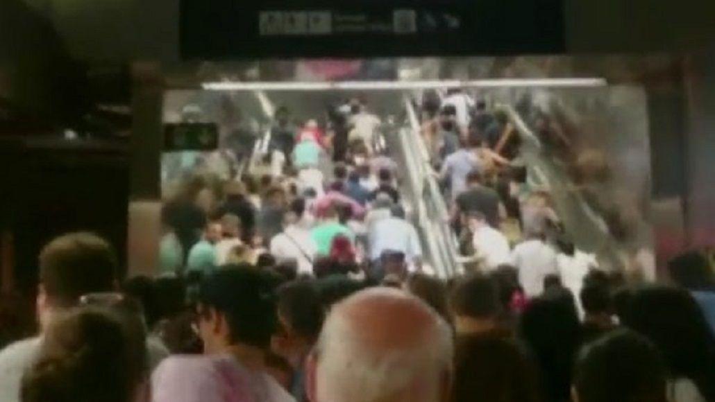 Pánico en el subte: la estampida humana que se generó ante el temor de un atentado