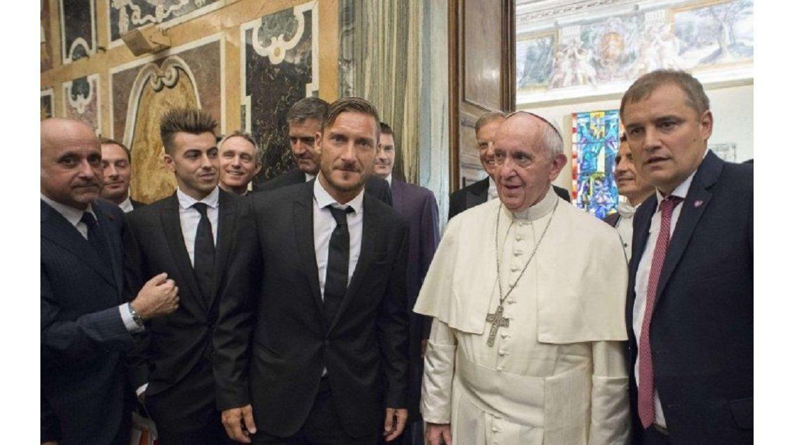 El plantel de San Lorenzo visitó al Papa Francisco en la previa del amistoso ante Roma