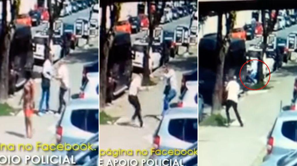 VIDEO: Asaltó a la persona equivocada y murió en plena calle