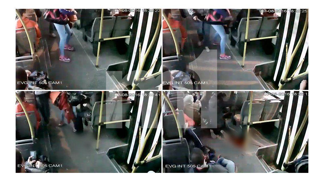 VIDEO: apuñalaron a una pasajera en pleno asalto a un colectivo en Quilmes