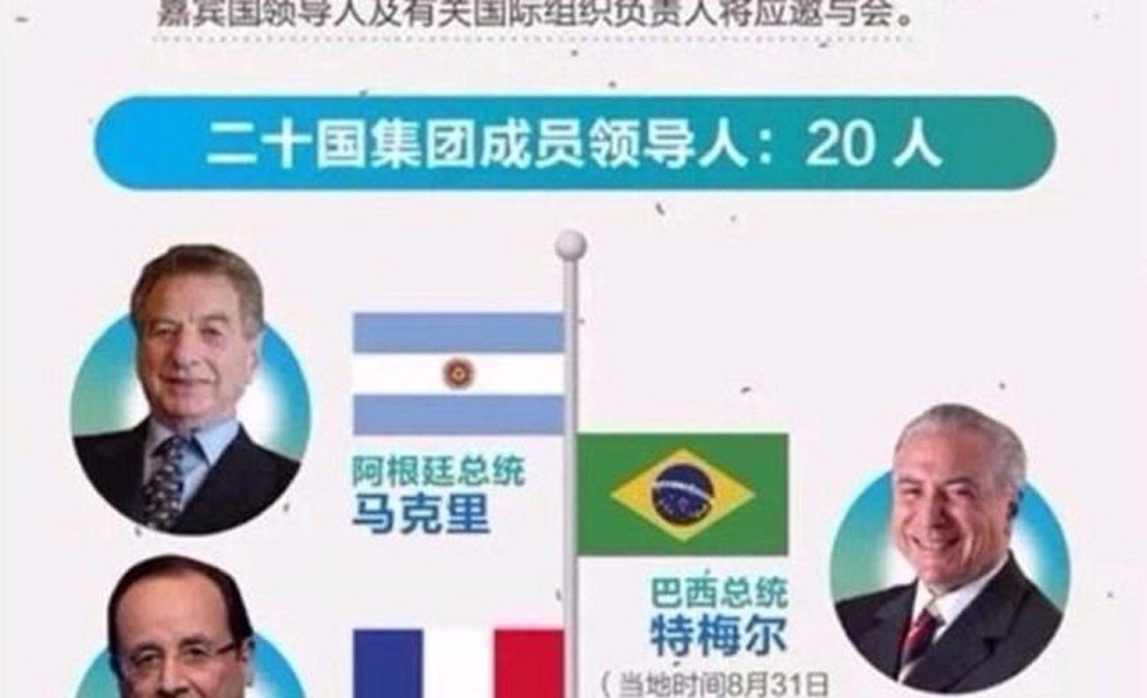 El G20 confundió a Mauricio Macri con Franco Macri