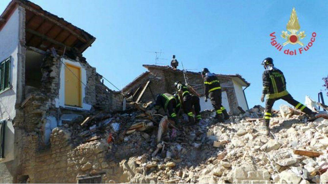 Un perro logró sobrevivir nueve días bajo los escombros de una casa en Italia