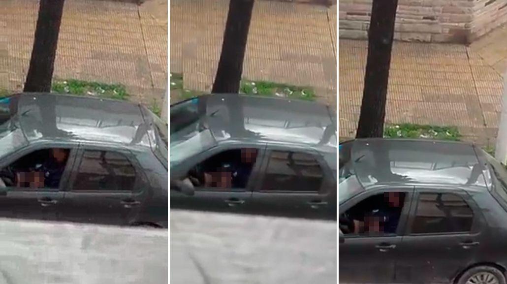 Filmaron a un depravado mientras se masturbaba frente a un colegio