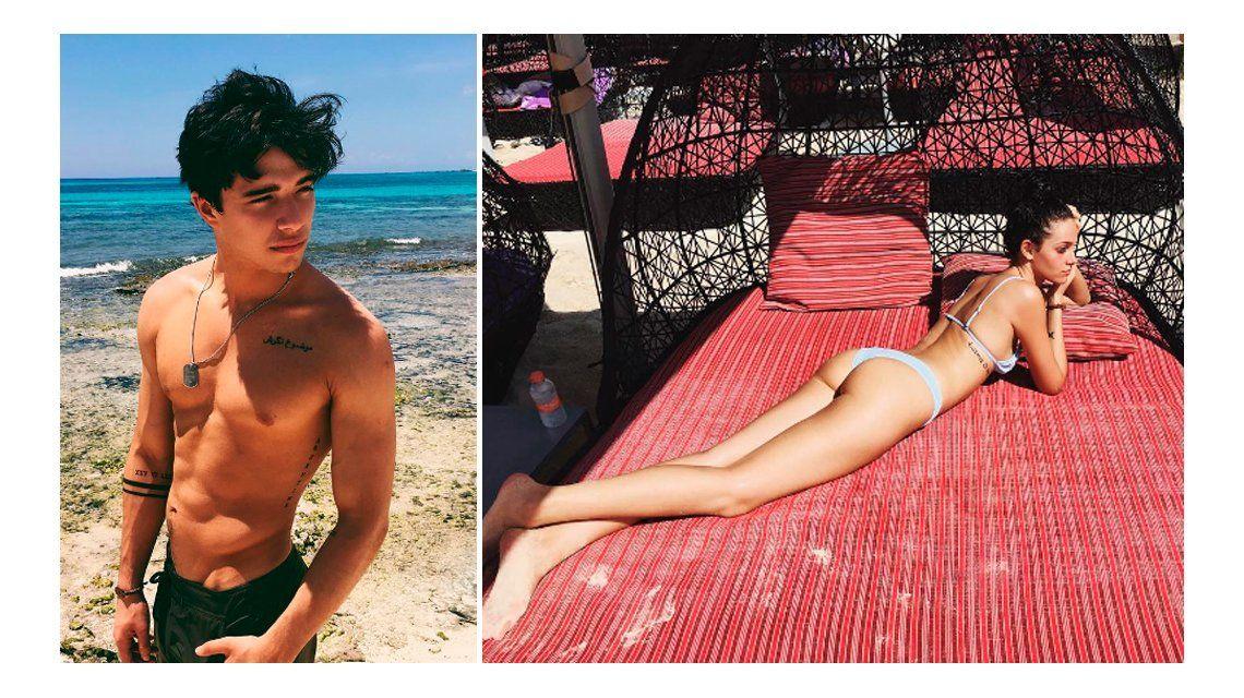 Oriana Sabatini y Julián Serrano lucieron sus lomazos en Playa del Carmen