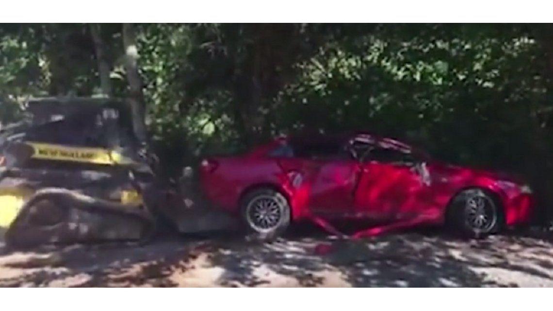 Día de Furia: destruyó el Audi A4 de su hija para castigarla