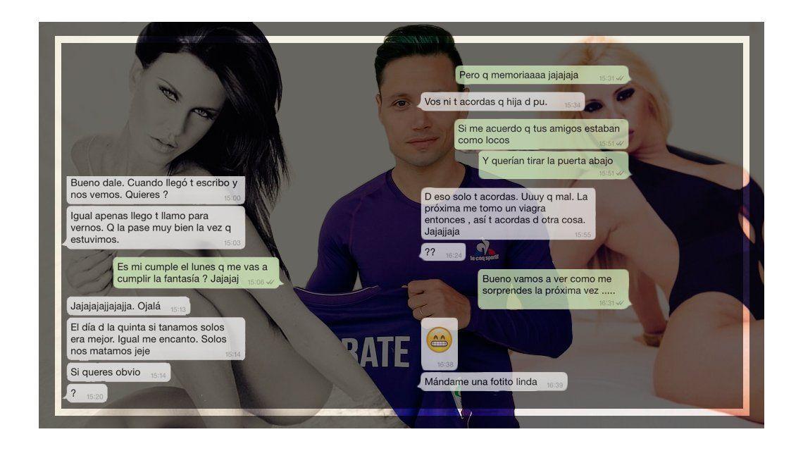 Escracharon a Mauro Zárate: mirá sus supuestos chats de Whatsapp con una chica Playboy