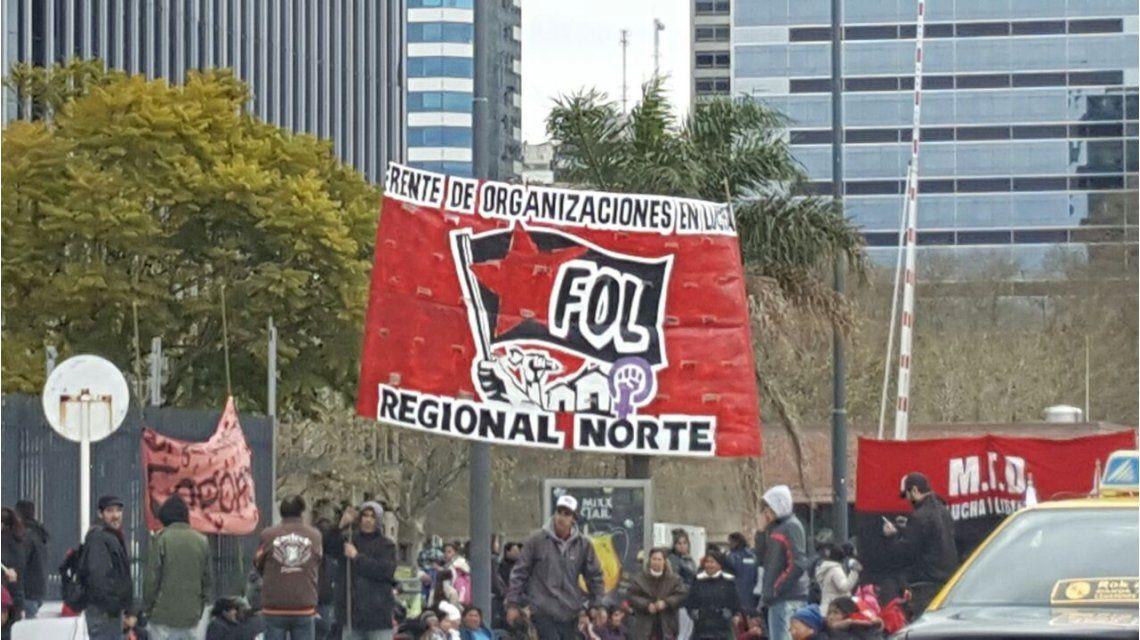 Puerto Madero quedó aislado por protesta de organizaciones sociales