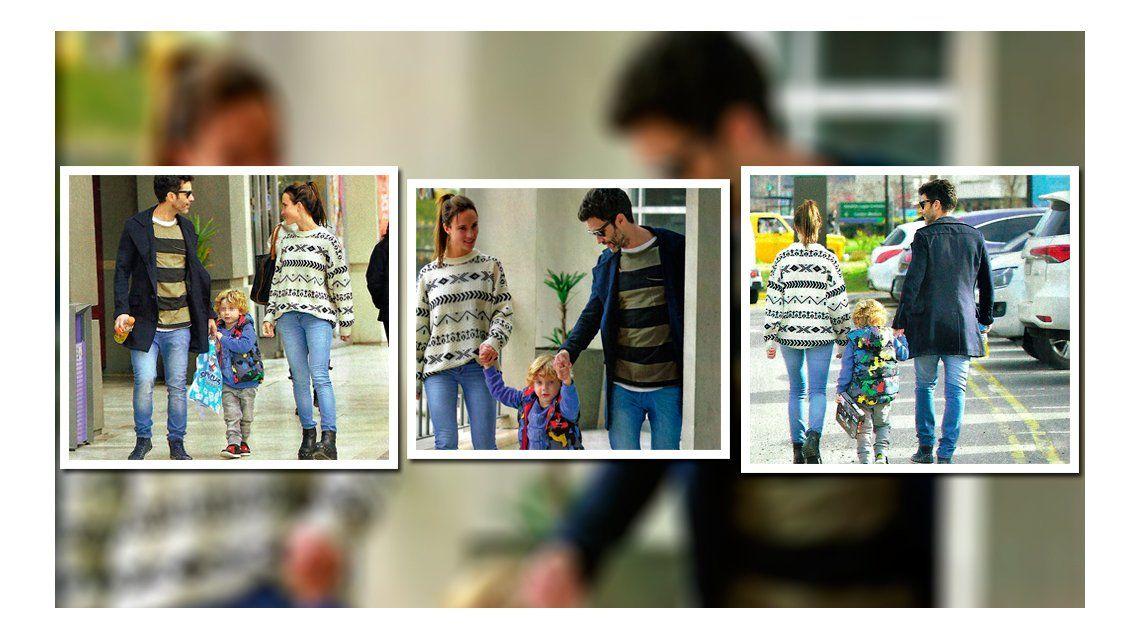 Romántico paseo de Mariano Martínez y su nueva novia, paseo de la mano por Nordelta