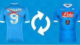 Plan canje: cambiá tu camiseta de Higuaín por otro producto de Nápoli