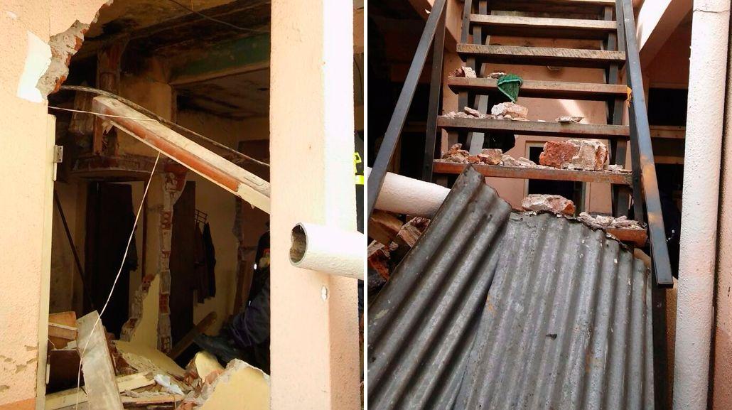 Explosión y derrumbe en un edificio de Mar del Plata: dos heridos, uno grave