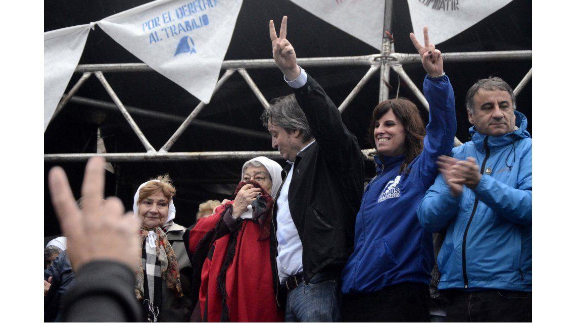 El cierre de la marcha de la resistencia, en fotos