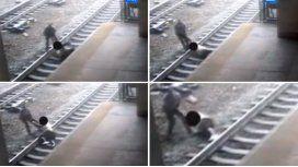 Salvó a hombre que se iba a tirar a las vías del tren