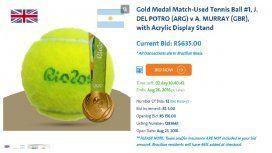 Subastan preciados objetos que se usaron en los Juegos Olímpicos de Río