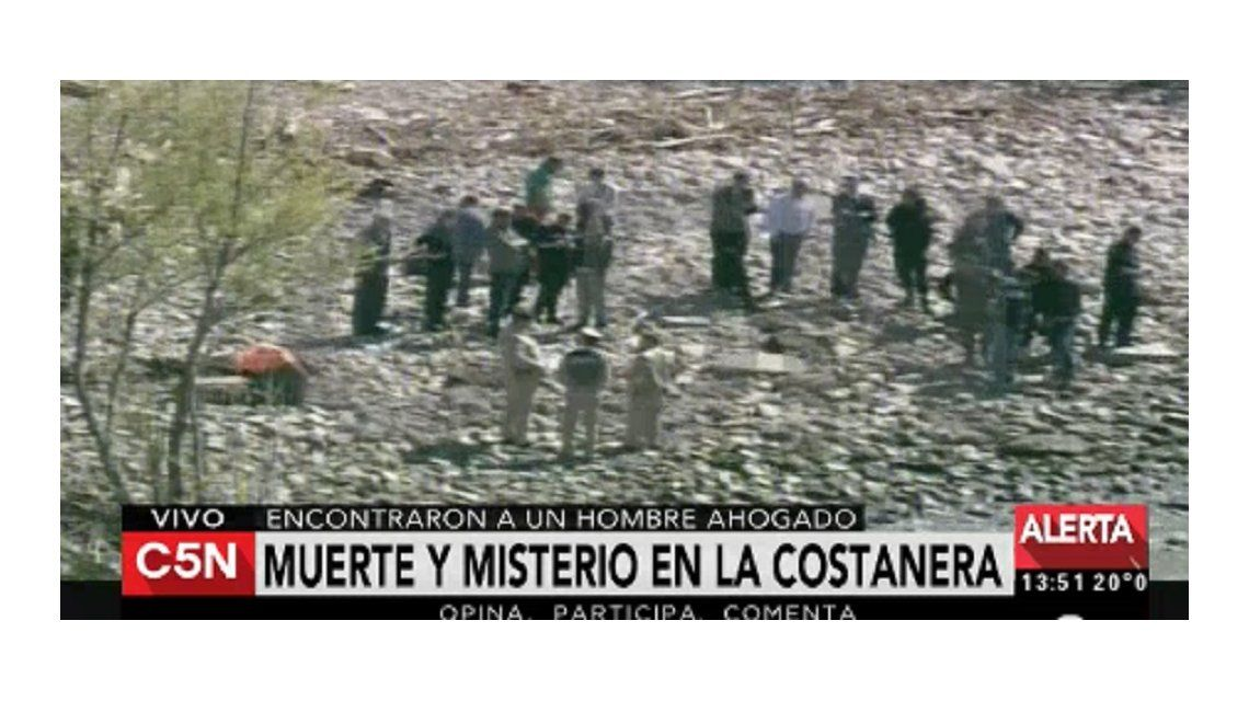 Encontraron un cadáver flotando en la reserva ecológica
