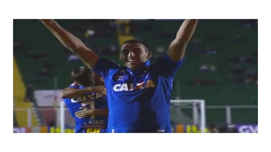 No para de hacer goles: Wanchope Ábila volvió a marcar para el Cruzeiro