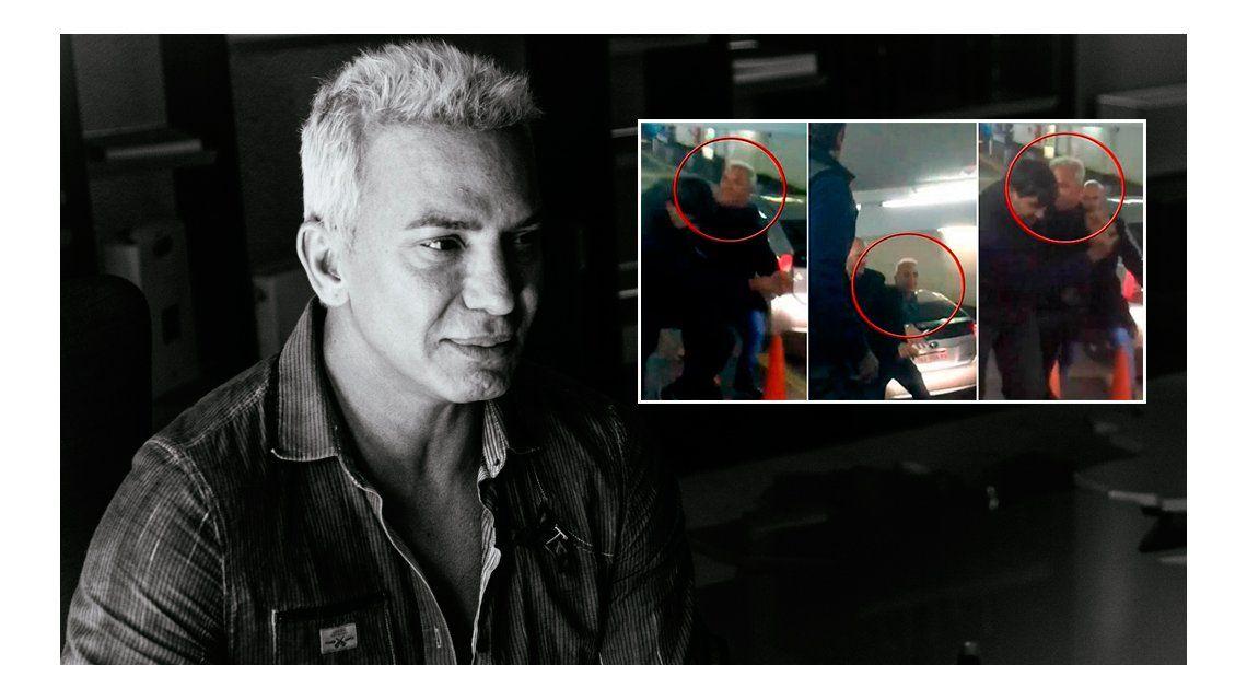 VIDEO: Flavio Mendoza, a las trompadas en un estacionamiento