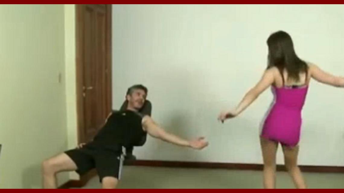 Mostraron el video del casting de Leo Sbaraglia con Eva De Dominici ¡bailando una cumbia hot!
