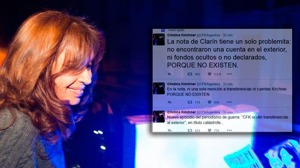 Cristina se quejó del periodismo de guerra y negó cuentas en el exterior