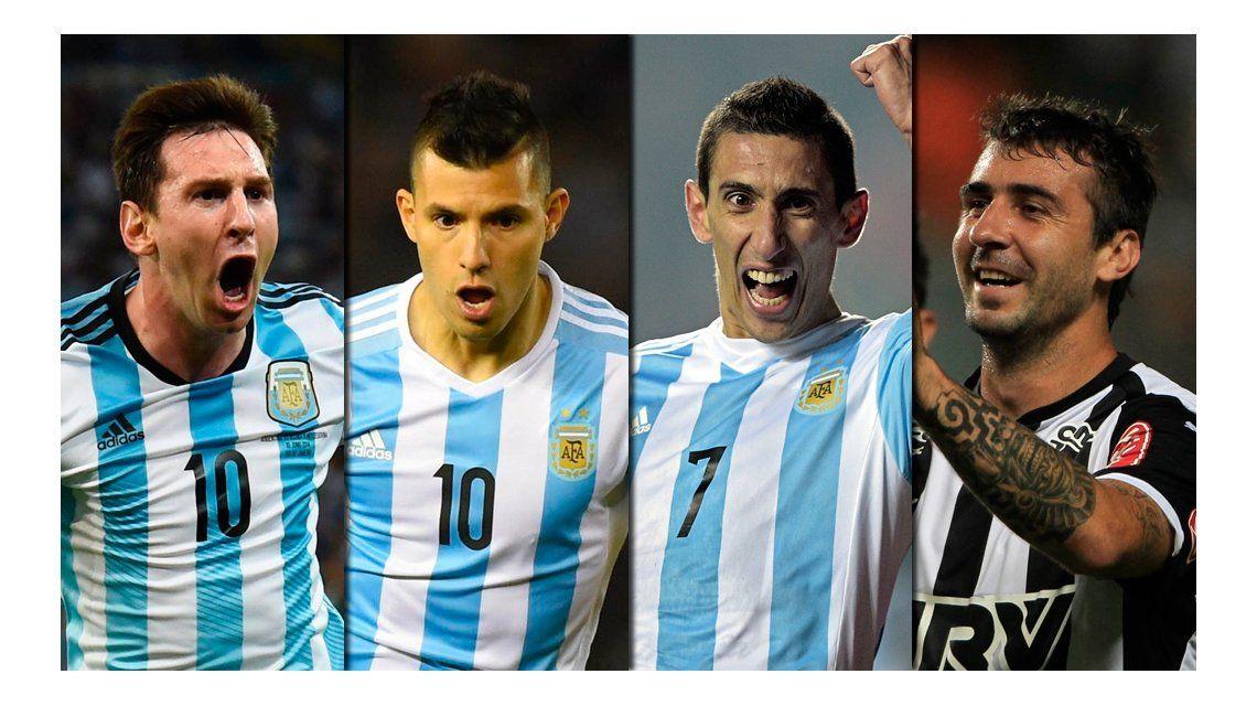 El cuarteto de ataque que planea Bauza para su debut ante Uruguay