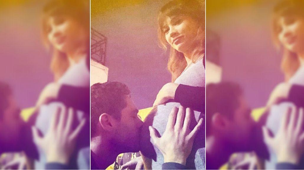 Celeste Cid y Michel Noher, enamorado y en  la dulce espera: mirá su tierna foto en las redes